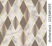 marble and leopard luxury... | Shutterstock .eps vector #1215684355