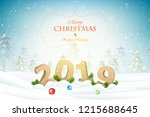 christmas and new year...   Shutterstock .eps vector #1215688645