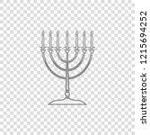 silver hanukkah menorah... | Shutterstock .eps vector #1215694252