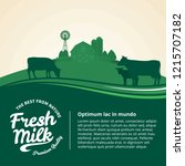 vector milk illustration with... | Shutterstock .eps vector #1215707182