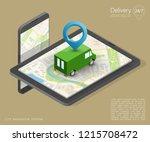 isometry city map navigation...   Shutterstock . vector #1215708472