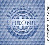 chronic blue badge with... | Shutterstock .eps vector #1215709018