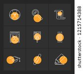 set of 9 icons  for web ... | Shutterstock .eps vector #1215714388