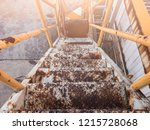 stairs with water until rust... | Shutterstock . vector #1215728068