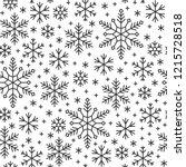 snowflake line seamless pattern.... | Shutterstock .eps vector #1215728518