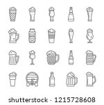 beer thin line icons set.... | Shutterstock .eps vector #1215728608