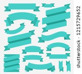 ribbons set. flat design... | Shutterstock .eps vector #1215729652