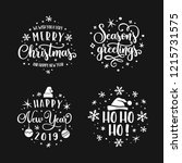 merry christmas and happy new... | Shutterstock .eps vector #1215731575