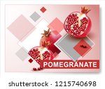 vector pomegranate.realistic... | Shutterstock .eps vector #1215740698