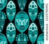 seamless background. tribal... | Shutterstock .eps vector #1215750592