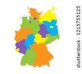 administrative map of germany... | Shutterstock .eps vector #1215755125