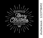 merry christmas vector text... | Shutterstock .eps vector #1215758452