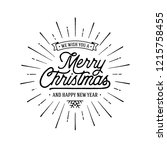 merry christmas vector text... | Shutterstock .eps vector #1215758455
