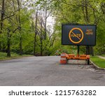 electric traffic street sign on ... | Shutterstock . vector #1215763282
