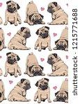 seamless pattern. adorable... | Shutterstock .eps vector #1215771688