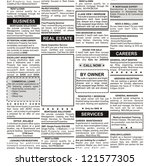 fake classified ad  newspaper ... | Shutterstock . vector #121577305