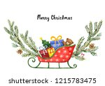 watercolor greeting card with... | Shutterstock . vector #1215783475