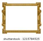 golden frame for paintings ... | Shutterstock . vector #1215784525