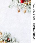 christmas decoration. frame of... | Shutterstock . vector #1215784798
