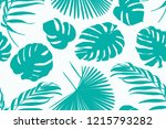 exotic tropical greenery... | Shutterstock .eps vector #1215793282