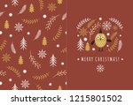 christmas and new year... | Shutterstock .eps vector #1215801502