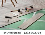 laminate installation tools | Shutterstock . vector #1215802795