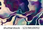 liquid paints ebru wave art... | Shutterstock . vector #1215810052