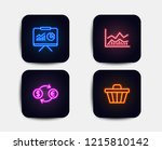 neon set of trade infochart ... | Shutterstock .eps vector #1215810142