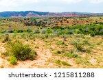 hostile beauty of rugged... | Shutterstock . vector #1215811288