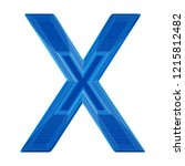 the letter x in a distinctive... | Shutterstock . vector #1215812482