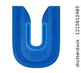 the letter u in a distinctive... | Shutterstock . vector #1215812485