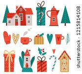 vector set of stylish cute... | Shutterstock .eps vector #1215814108