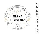 merry christmas greeting text... | Shutterstock .eps vector #1215814915