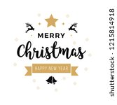 merry christmas greeting text... | Shutterstock .eps vector #1215814918