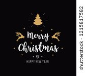 merry christmas greeting text... | Shutterstock .eps vector #1215817582