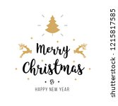merry christmas greeting text... | Shutterstock .eps vector #1215817585