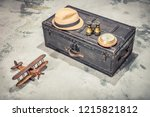 vintage old classic travel... | Shutterstock . vector #1215821812