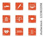team spirit icons set. grunge... | Shutterstock .eps vector #1215822058