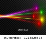 colorful laser beam set... | Shutterstock .eps vector #1215825535