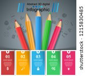 education infographic. five... | Shutterstock .eps vector #1215830485