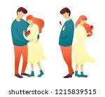 cute cartoon illustration of... | Shutterstock .eps vector #1215839515