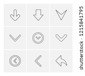 set of 9 icons  for web ... | Shutterstock .eps vector #1215841795