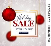 winter holiday sale web banner. ...   Shutterstock .eps vector #1215843268