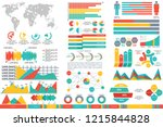 set of abstract infographics...   Shutterstock .eps vector #1215844828
