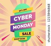cyber monday flat gradient... | Shutterstock .eps vector #1215846868