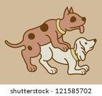 erotic couple dogs version. ... | Shutterstock .eps vector #121585702