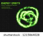 green plasma energy orbits  ... | Shutterstock .eps vector #1215864028