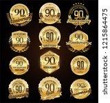 retro vintage anniversary... | Shutterstock .eps vector #1215864475