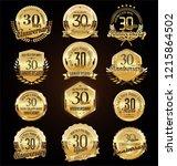 retro vintage anniversary... | Shutterstock .eps vector #1215864502