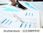 financial statistics documents... | Shutterstock . vector #1215889945